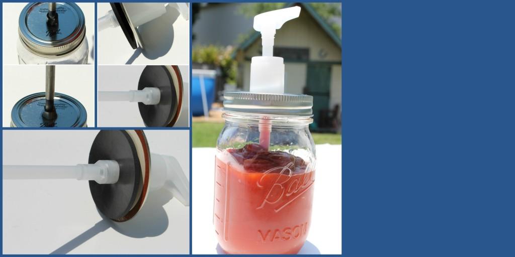 Ball Canning Jar Ketchup Dispenser DIY
