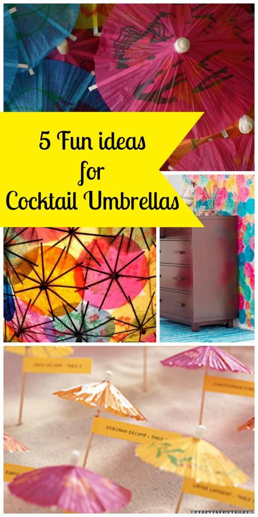 Cocktail Umbrella Collage