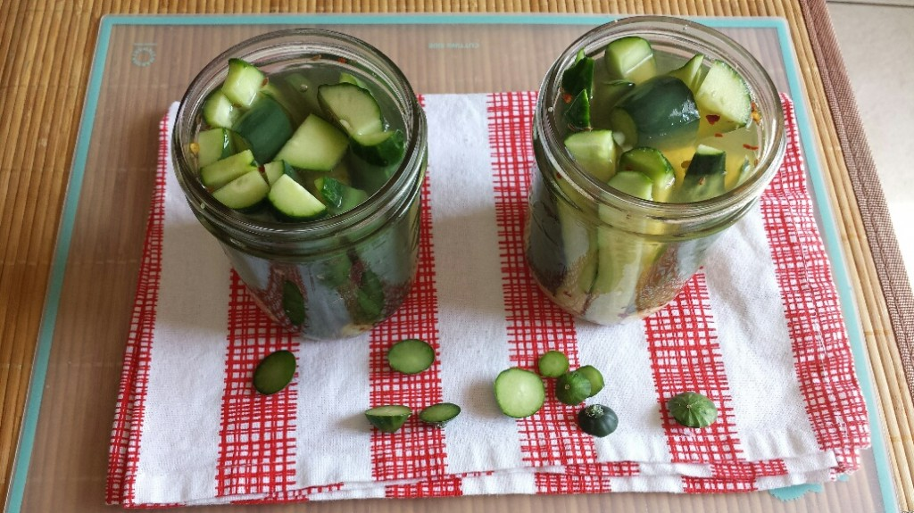 Pickles- brine in, no tops