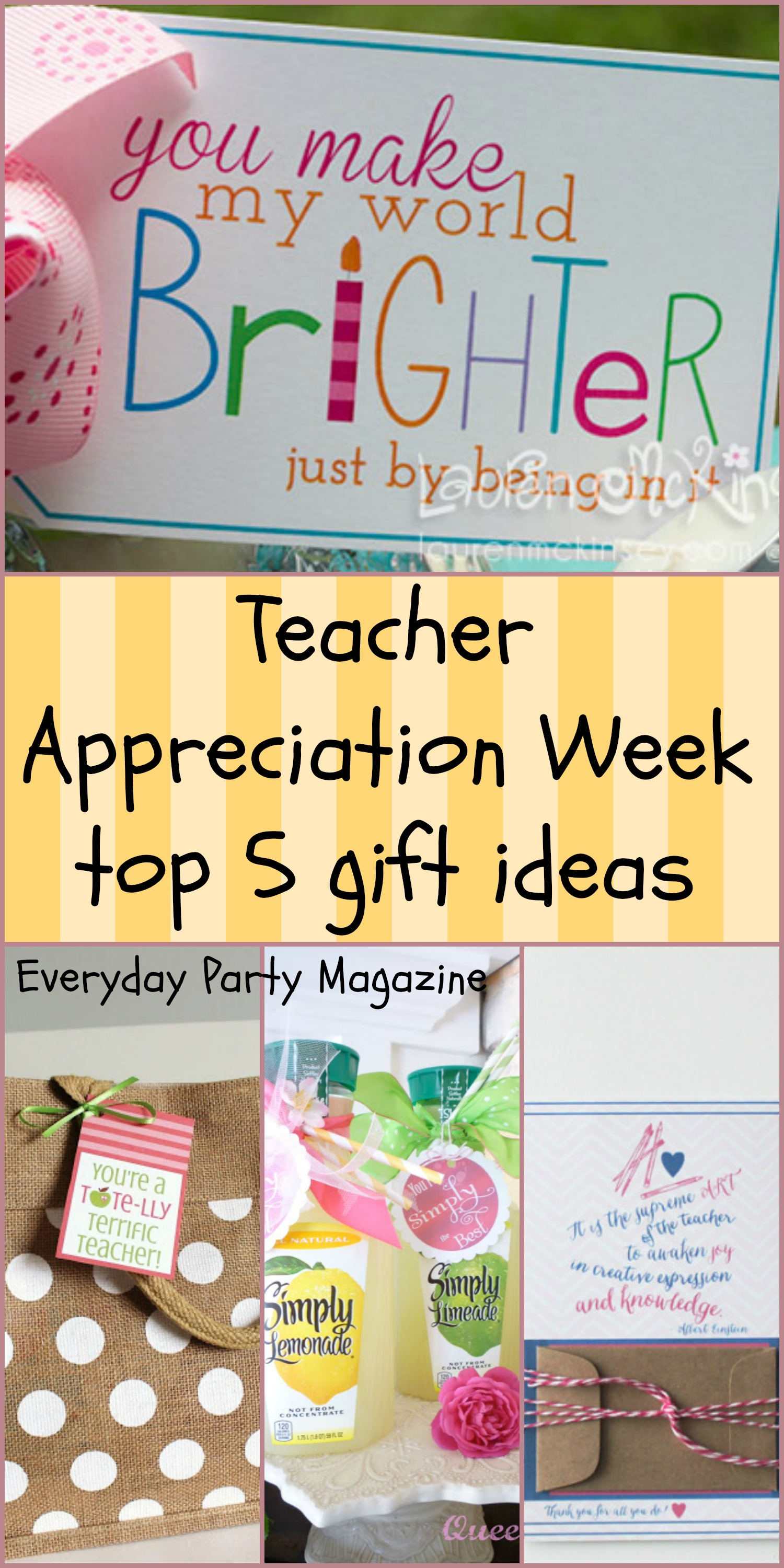 top 5 teacher appreciation gifts everyday party magazine