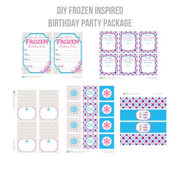 DIY Modern Hostess Frozen Party Package shared on Everyday Party Magazine