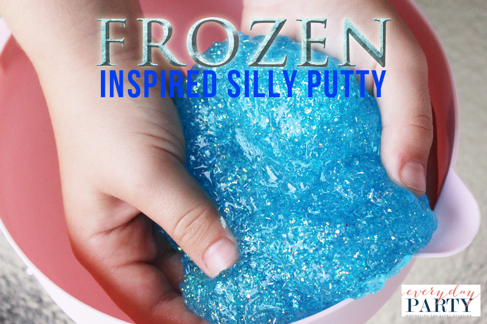 Everyday Party Magazine Frozen Inspired Silly Putty by Lizard N Ladybug