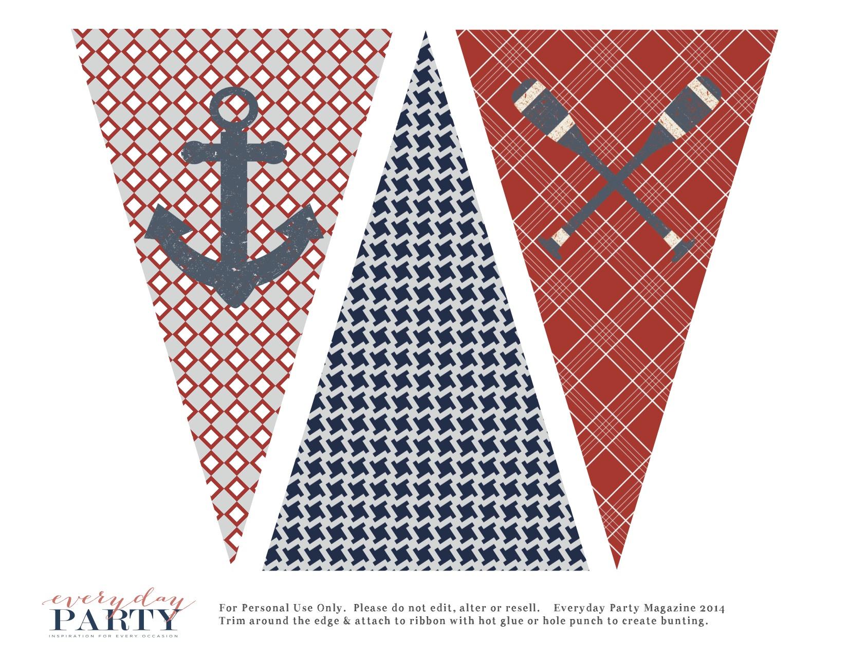 Free Nautical Party Printables - Everyday Party Magazine
