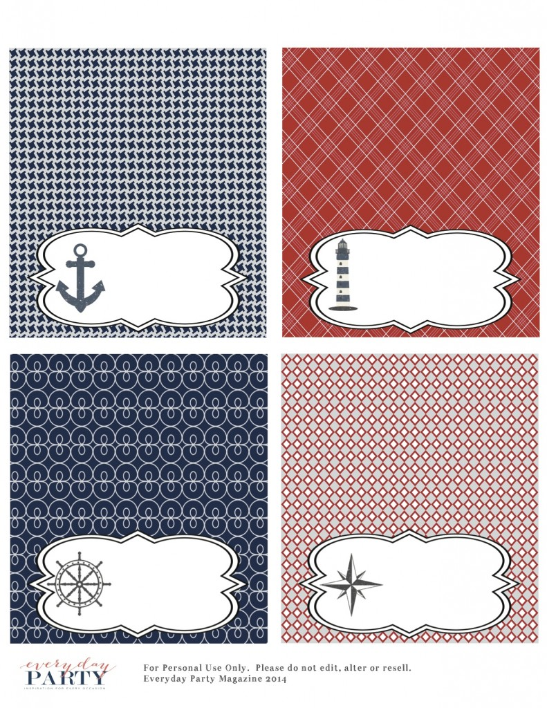 Everyday Party Magazine Free Nautical Party Printables