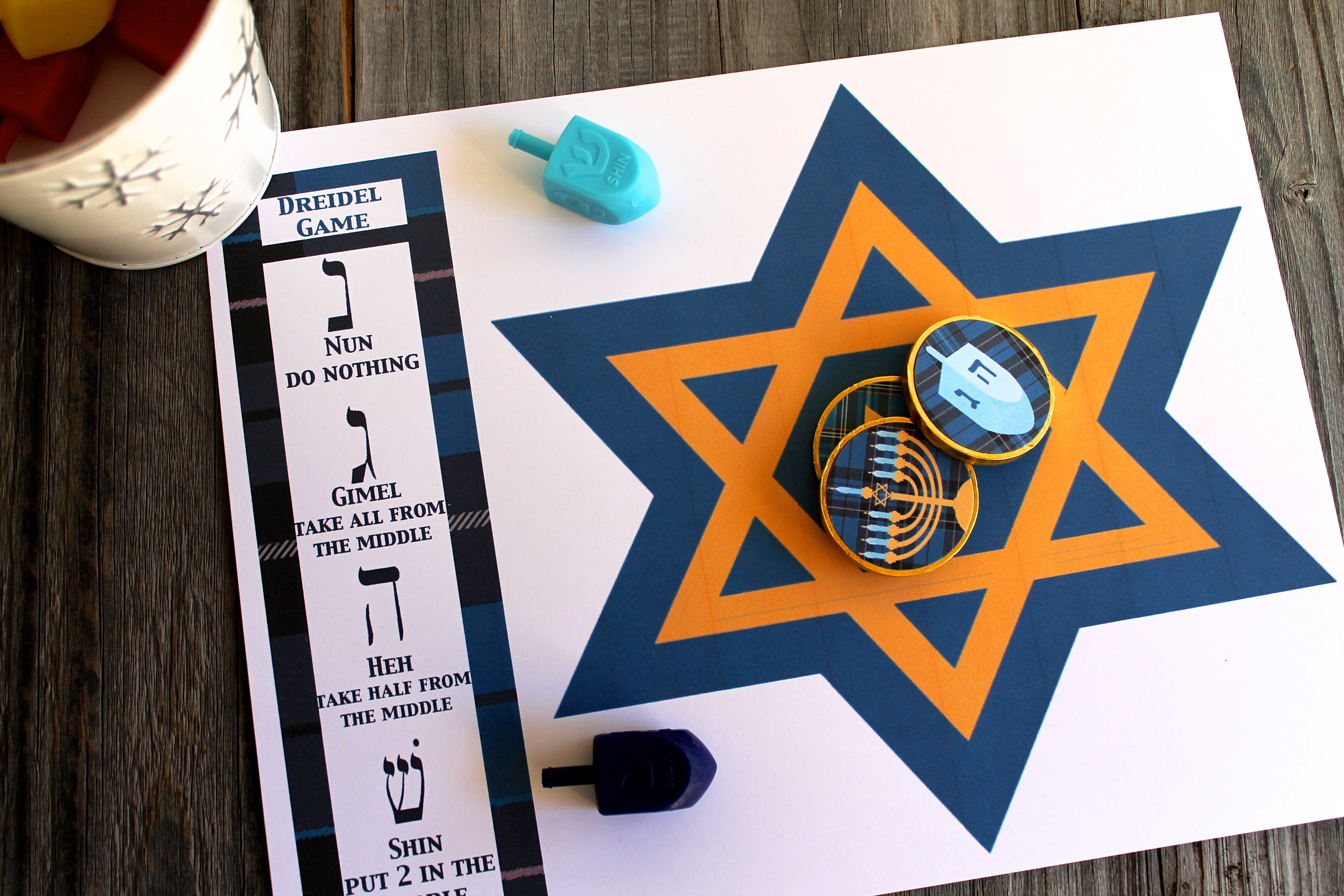 It's just a graphic of Nifty How to Play the Dreidel Game Printable