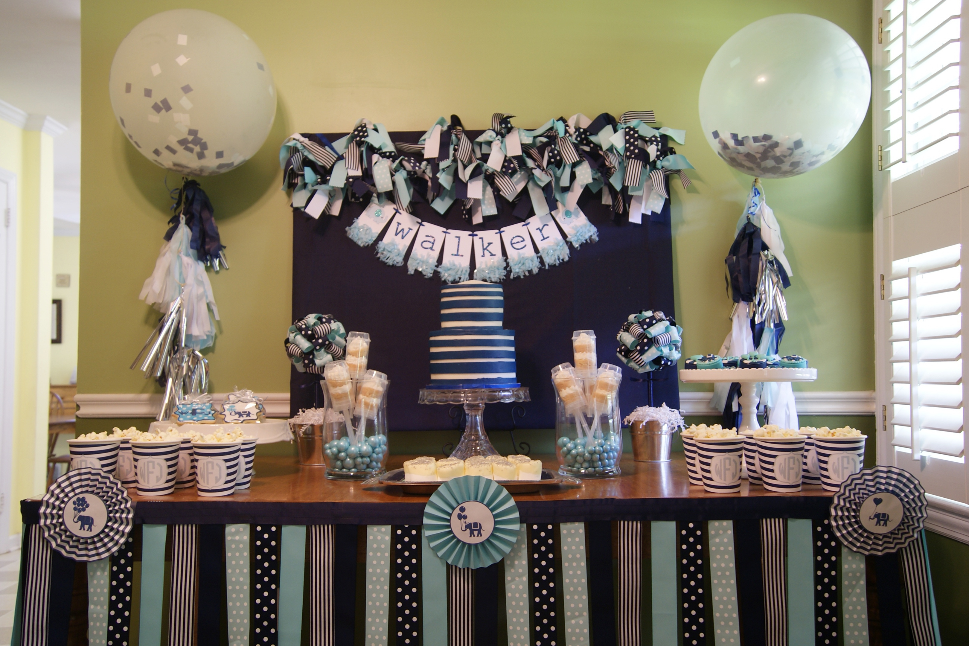 Tips for planning a baptism christening reception for Baby dedication decoration