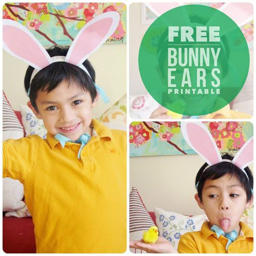 Bunny Ears Printable by Claudine Hellmuth on Everyday Party Magazine