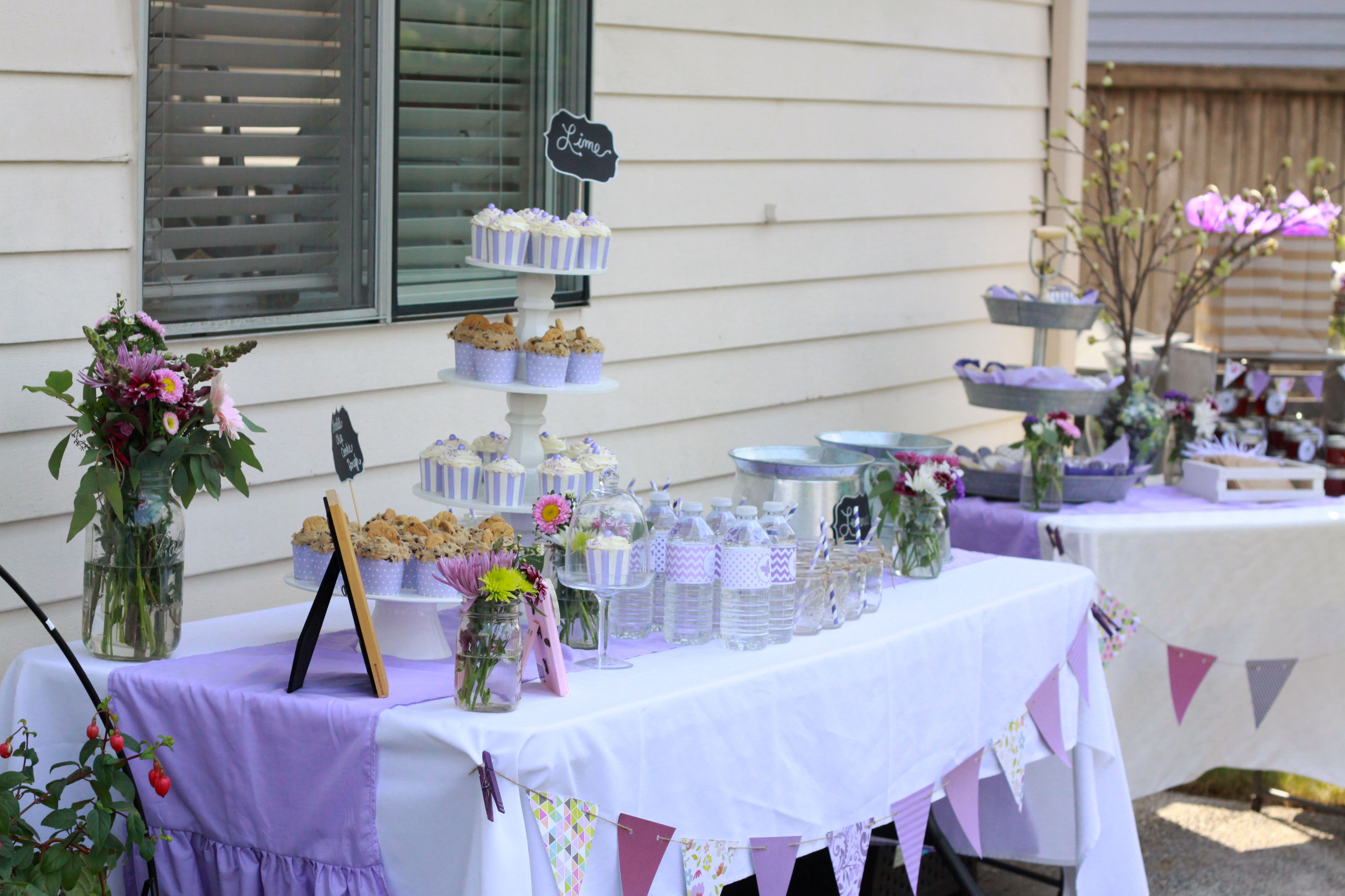 Awesome Lavender Butterfly Baby Shower By 4 Kids Cakes On Everyday Party Magazine