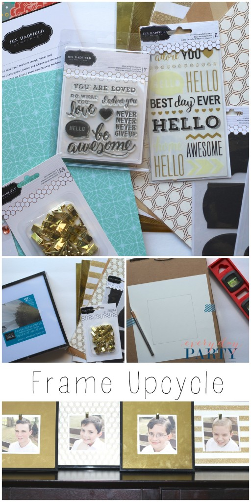 Frame Upcycle Everyday Party Magazine Collage with Jen Hadfield Homemade Paper (collage image)