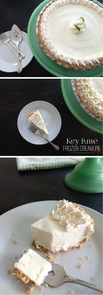 Key Lime Frozen Cream Pie by Pamela Smerker Designs on Everyday Party Magazine