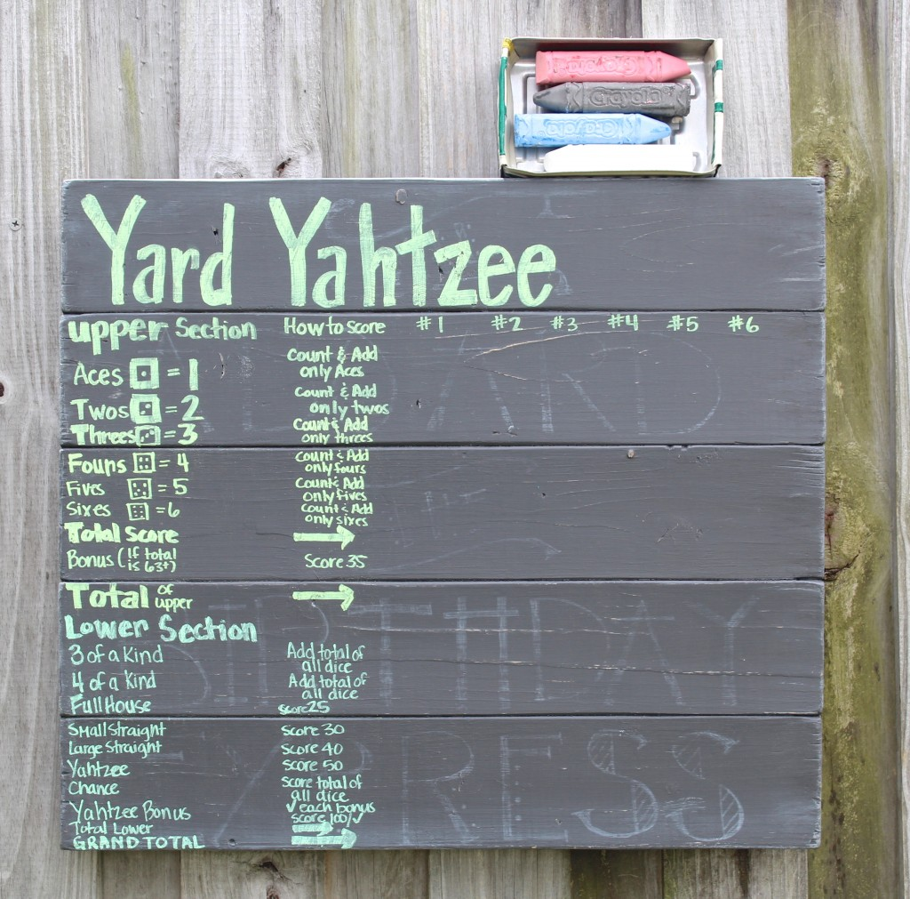 Summer Camp Fun Yard Yahtzee Everyday Party Magazine