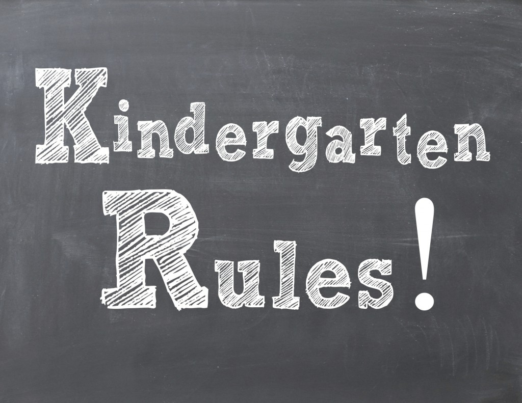 Kindergarten Rules Free Printable Back to School Everyday Party Magazine