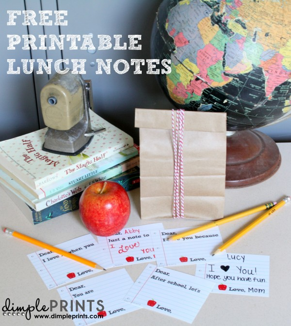 Lunch Box notes by DimplePrints