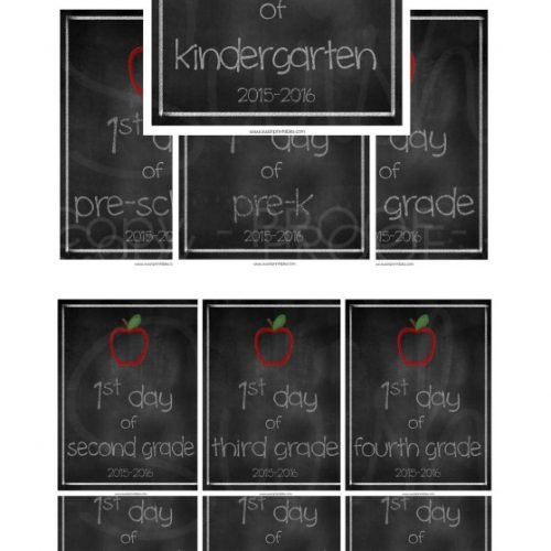Swish Printables Back to School Printables 1st Day Free