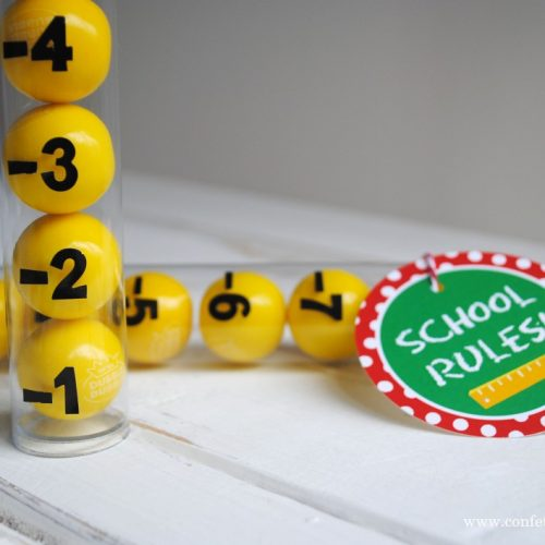 DIY Gum Ball Ruler by Katarina's Paperie
