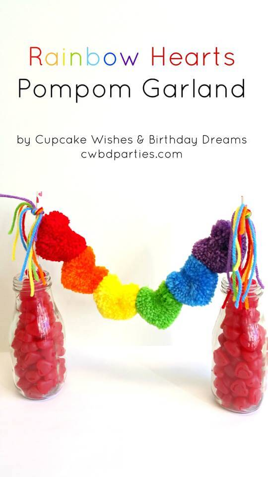 Cupcake Wishes and Birthday Dreams Heart Garland Party Gals Linky Party 14