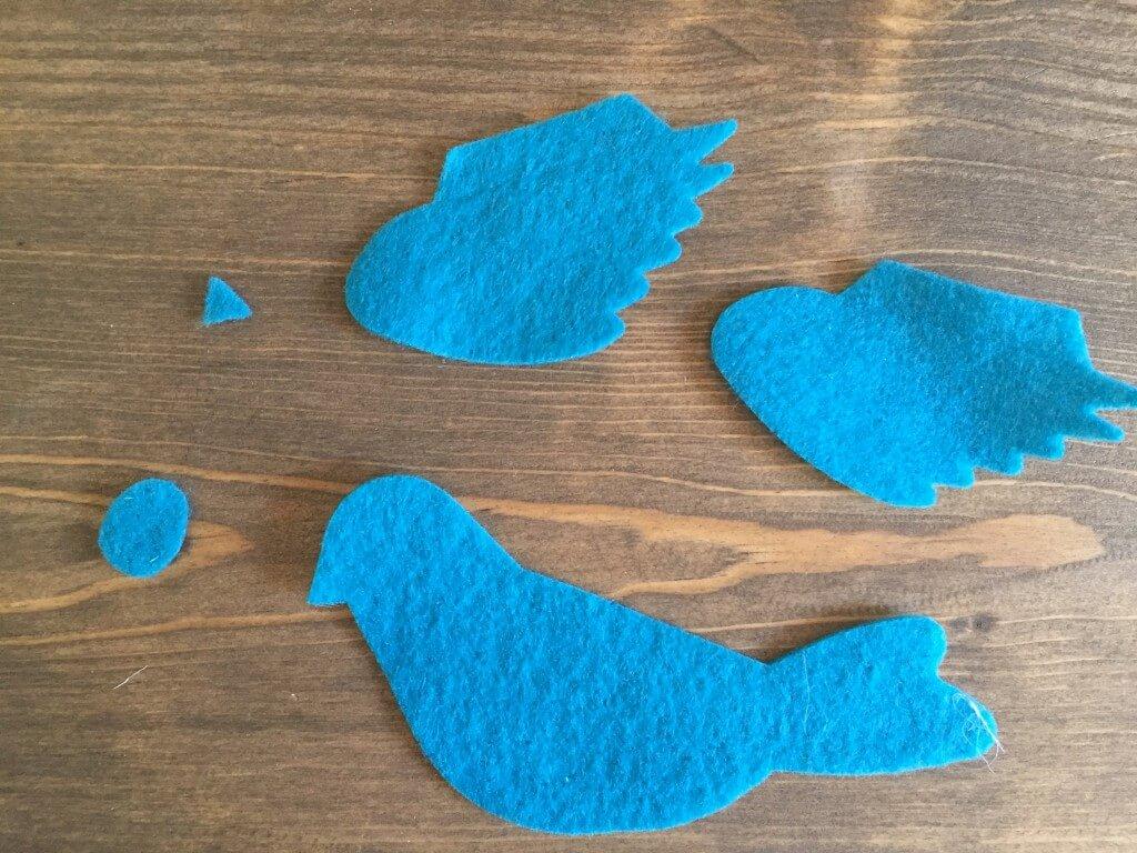 Everyday Party Magazine DIY Spring Decor Felt Birds