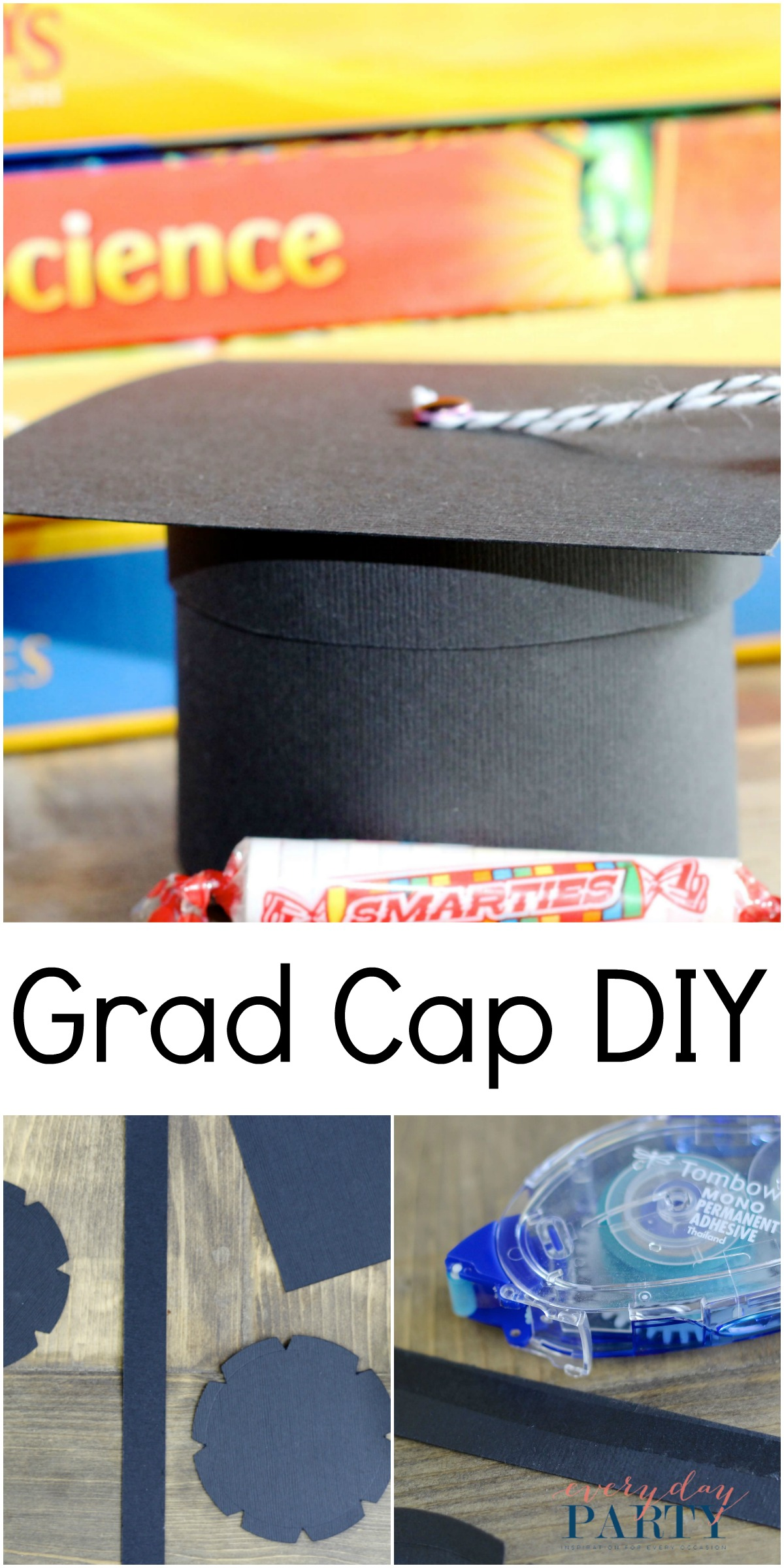 Everyday Party Magazine Graduation Cap Gift Box DIY