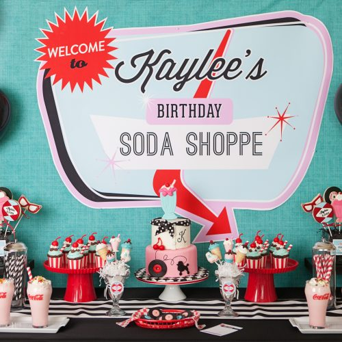 Everyday Party Magazine Retro Soda Shoppe by Banner Events
