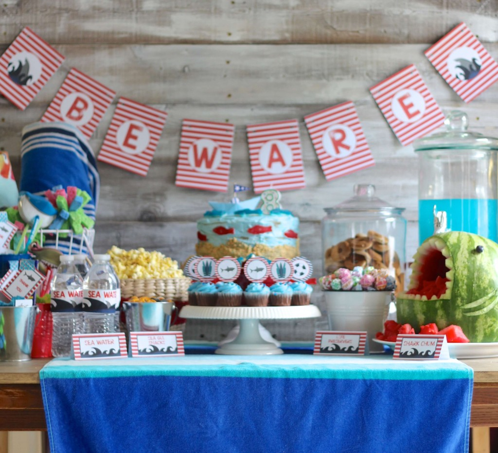 Shark Week Birthday Party