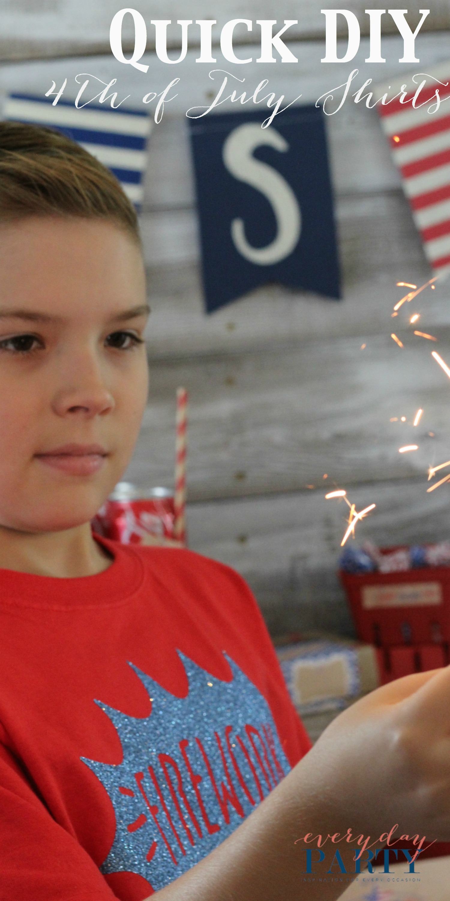 Everyday Party Magazine Quick DIY 4th of July Shirts