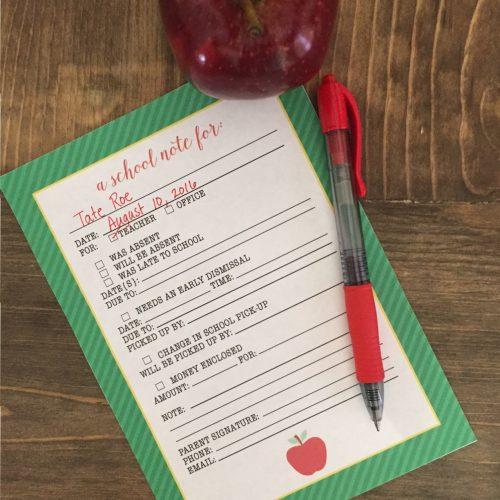 Everyday Party Magazine School Note