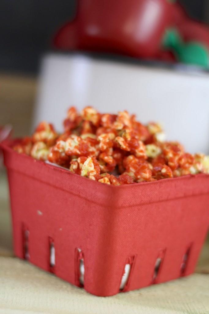Simple Caramel Apple Popcorn