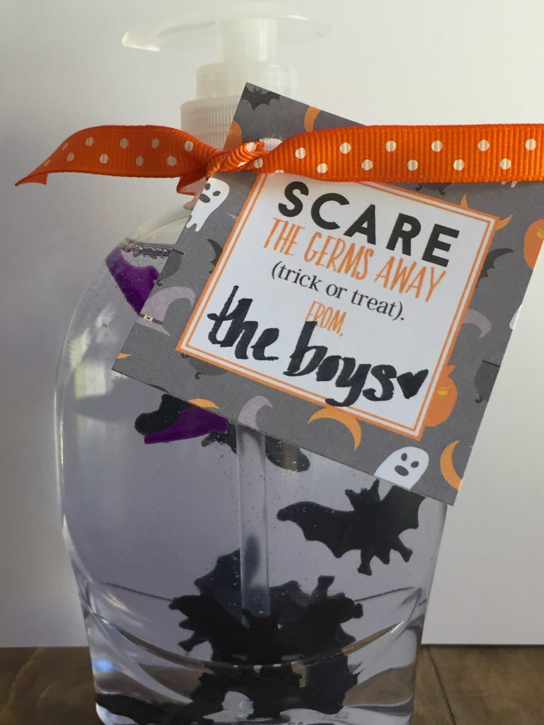 Scare Away the Germs Printable Tag and DIY