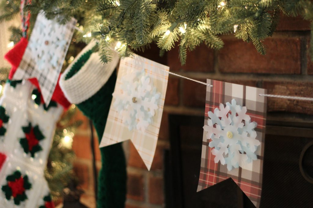 Simple Rustic Snow Flake Banner