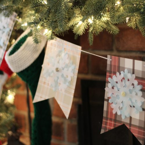 Everyday Party Magazine Simple Rustic Snow Flake Banner