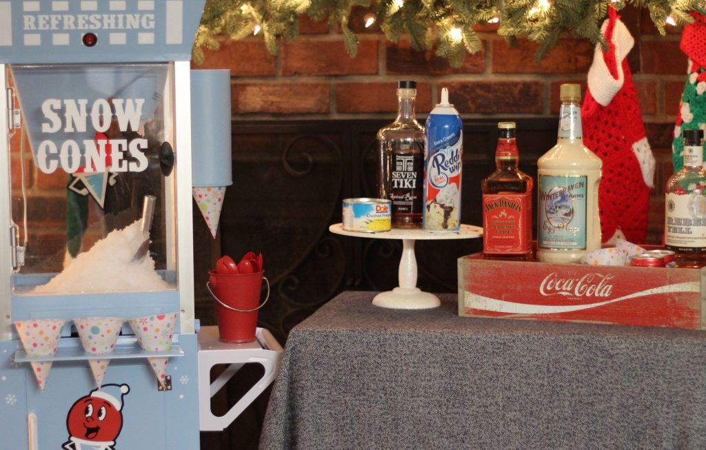 Holiday Cocktail Snow Cones