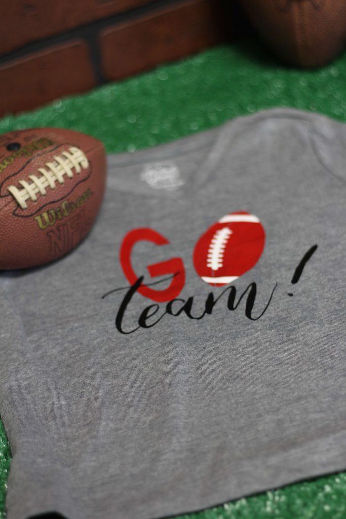 Go Team Football Shirt DIY