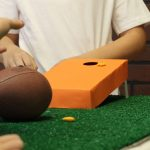 Table Top Corn Hole Game DIY with Goldfish