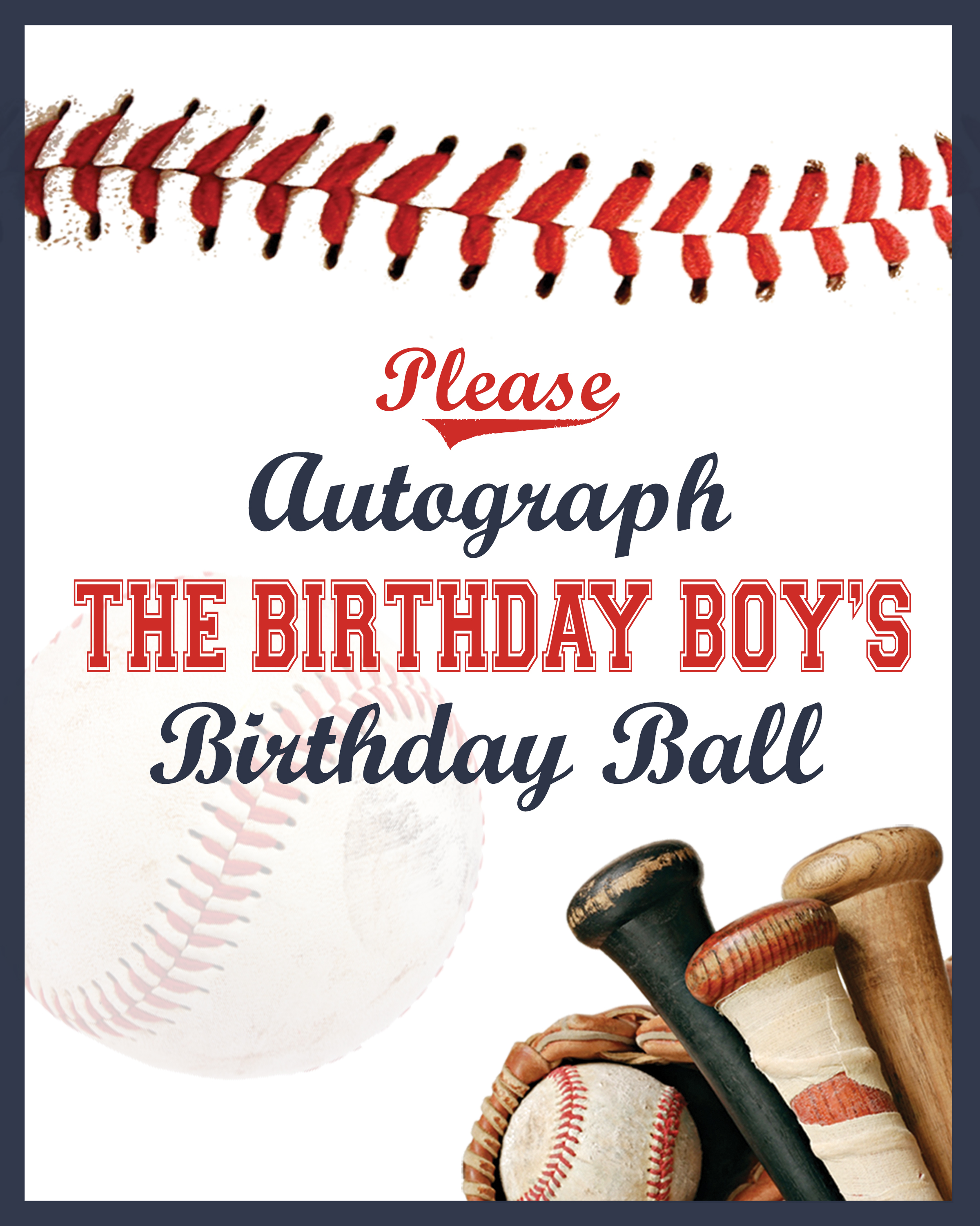 Everyday Party Magazine Let's Play Ball Printable Baseball Signs