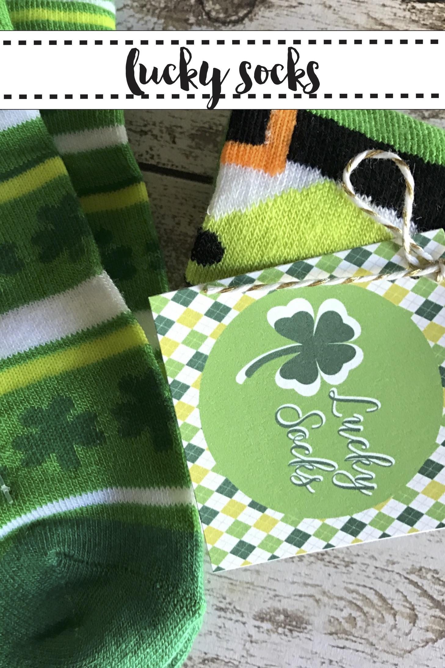 St. Patrick's Day Socks and Printable
