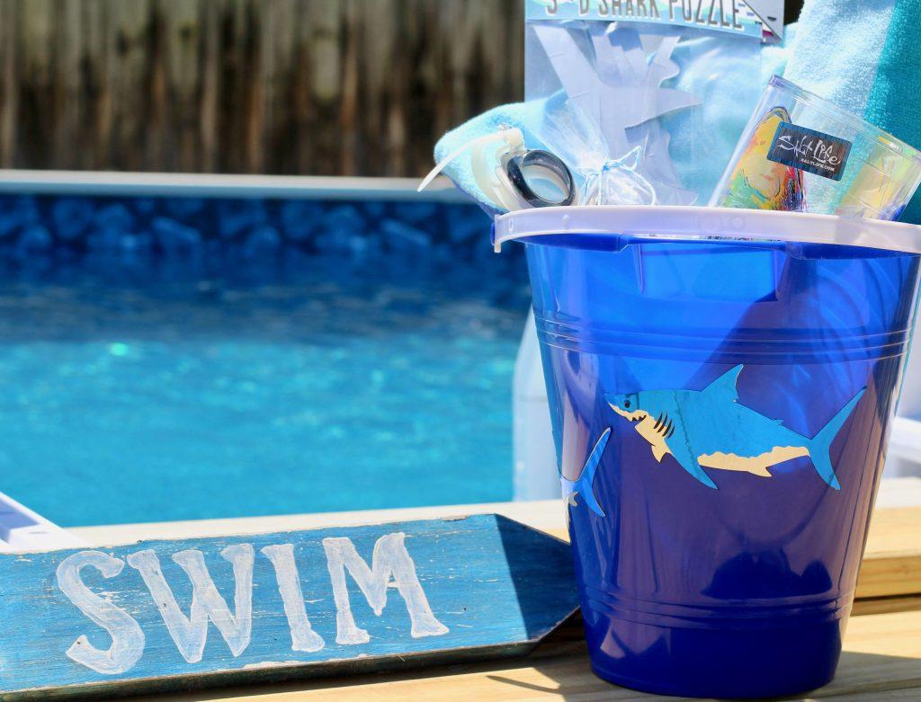 Quick Shark Themed Easter Bucket