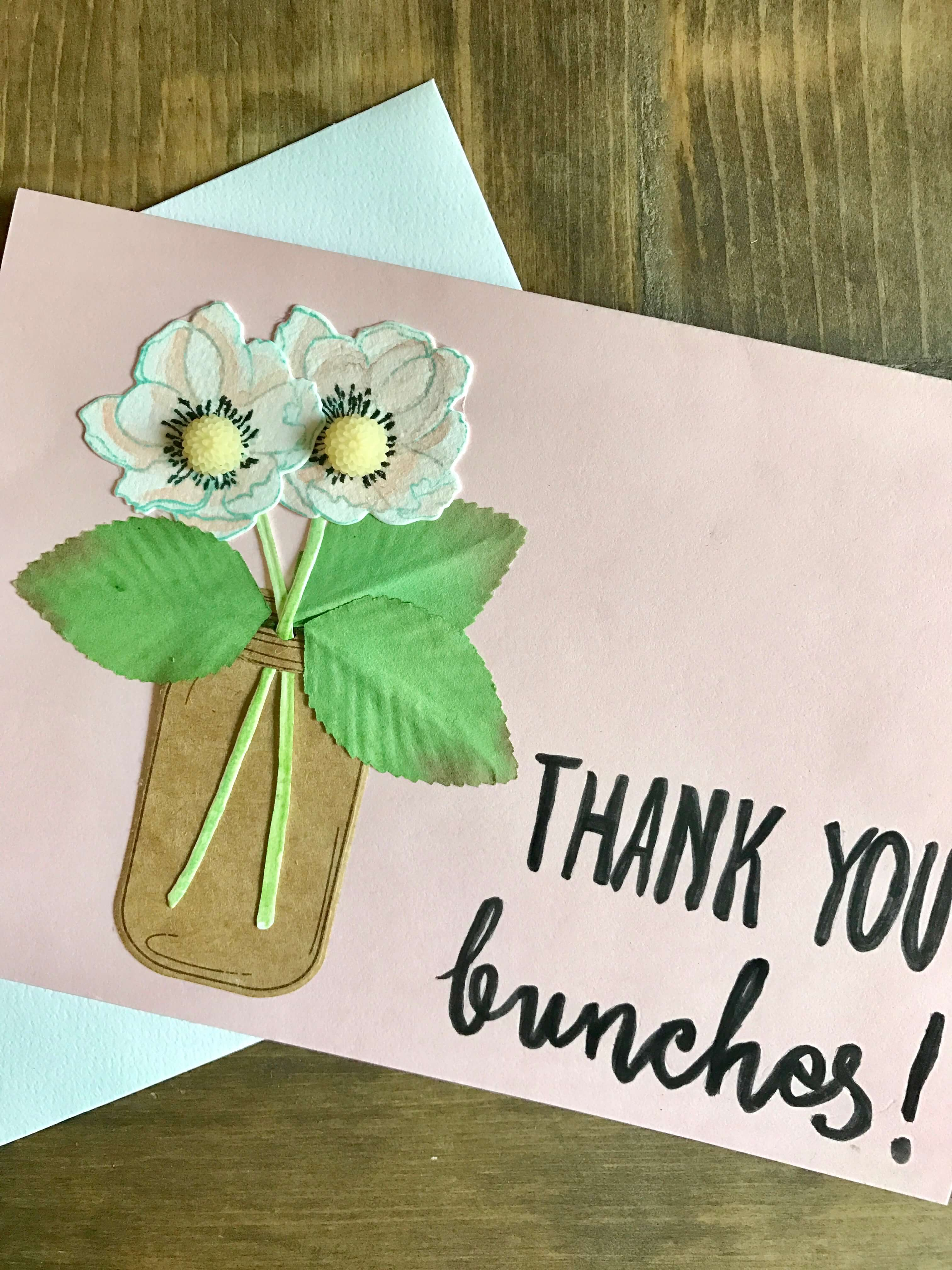 Everyday Party Magzine Simple Thank You Card DIY