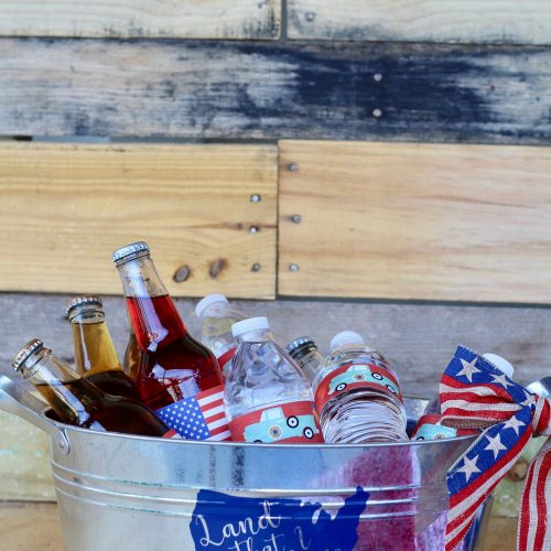 Everyday Party Magazine Simple DIY Drink Bucket - Patriotic Craft Lightning