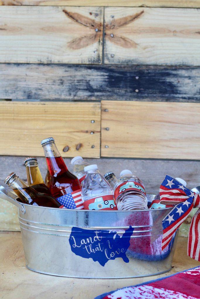 Simple DIY Drink Bucket Patriotic Craft Lightning