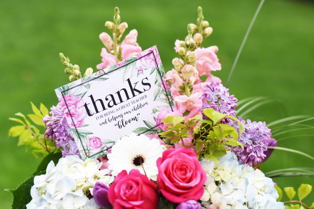 Floral Teacher Appreciation Printable Tag