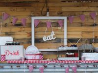 Back Yard BBQ, Red Gingham, Vintage, S'mores, DIY, Backyard Party