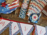 USO, Coca-Cola, Party in a Box, Patriotic, 4th of July, Red White and Blue