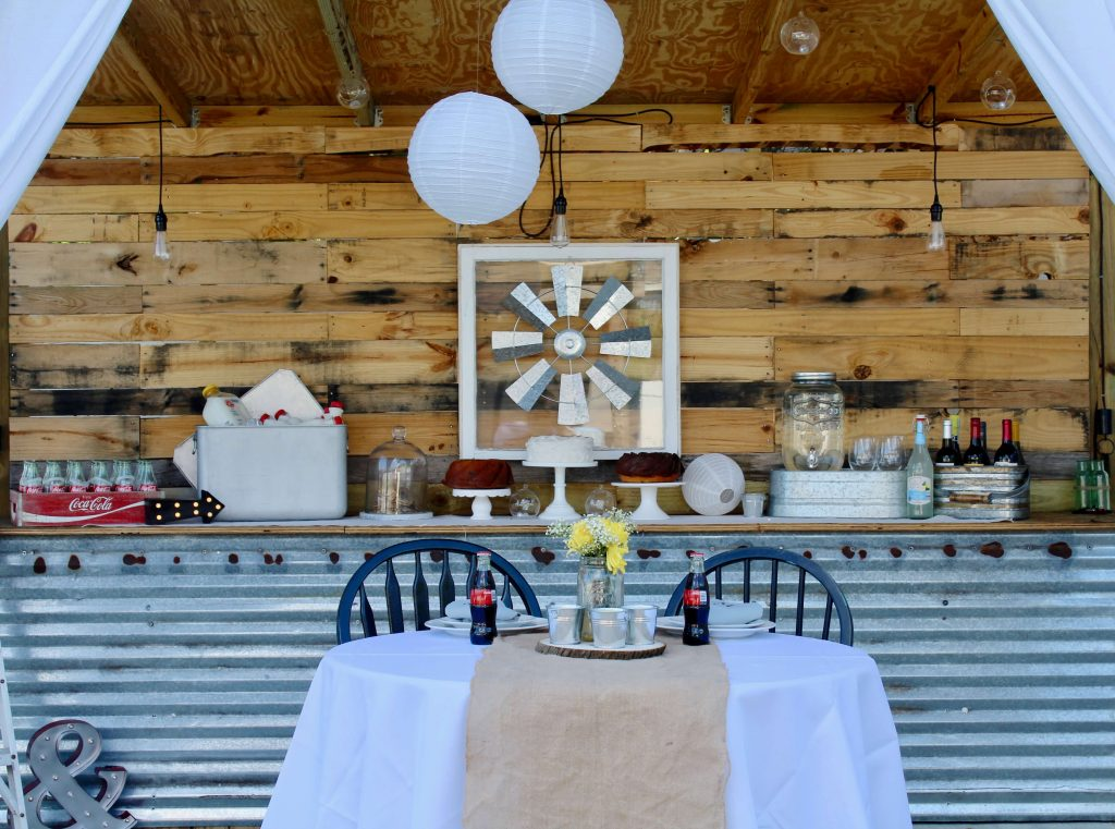 Rustic Romantic Wedding Reception with Marry Me