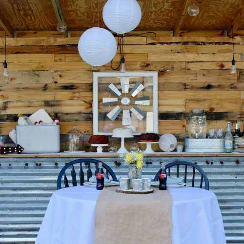 Rustic Wedding Table, Barn Wedding, Vintage, Oriental Trading Co., Reception, DIY, Marry Me