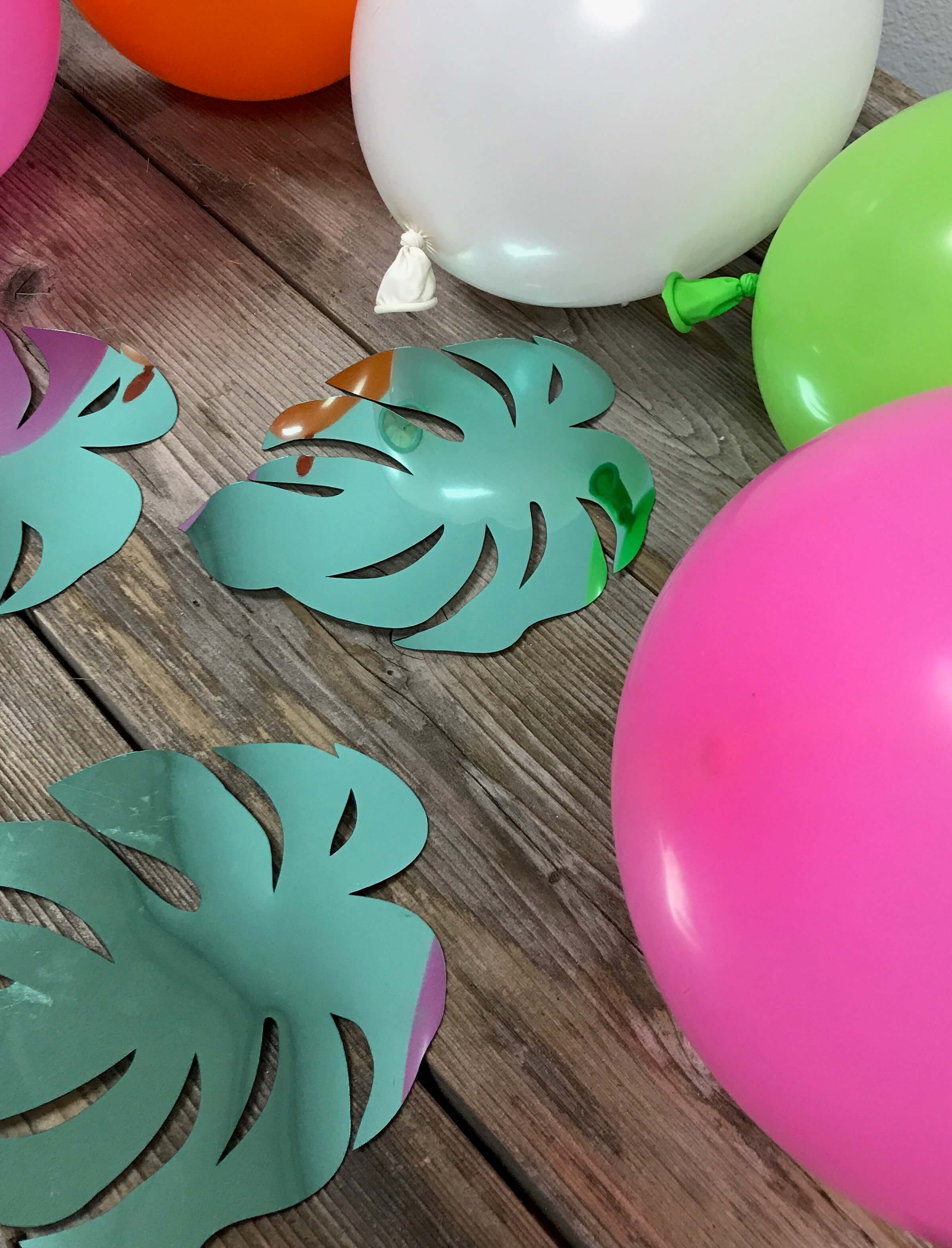 DIY, Balloon Garland, Plumeria, Luau, Cricut, Everyday Party Magazine