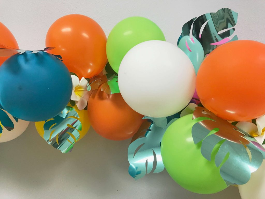 DIY Tropical Balloon Garland with Cricut