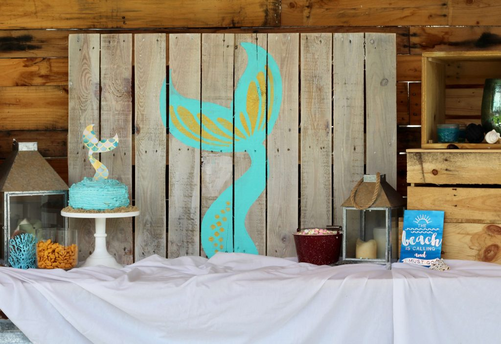 DIY Mermaid Backdrop