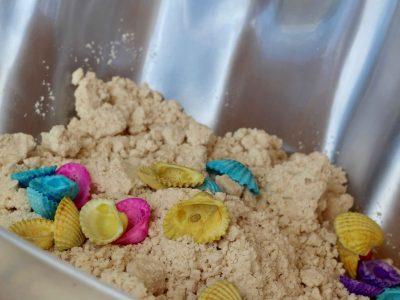 Mermaid, Slime, Sensory, Moon Sand, Kinetic Sand, Mermaid Sand, Everyday Party Magazine