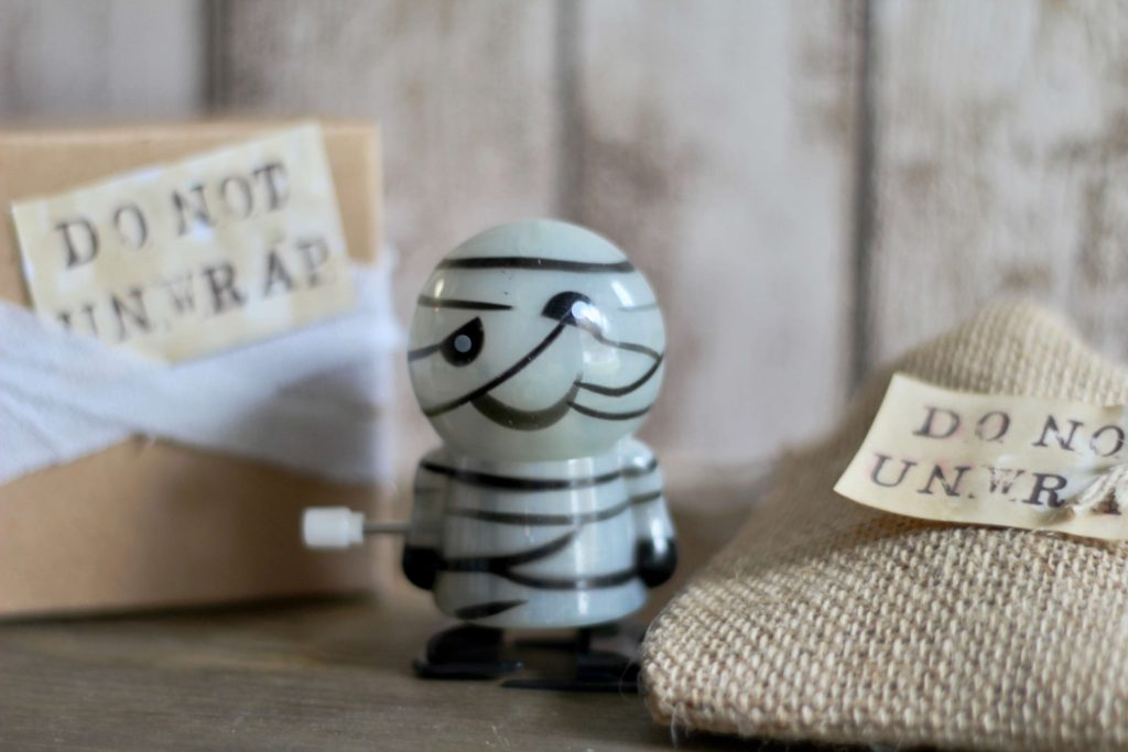 Mummy Halloween Favor with Oriental Trading Company