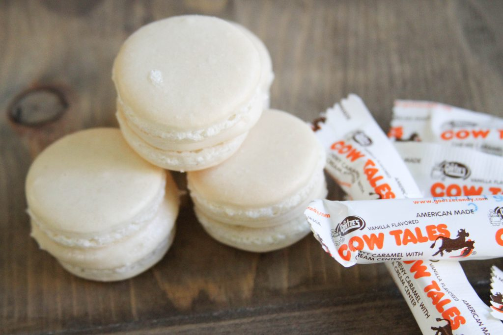 Vanilla Macarons with Cow Tales Caramel Filling